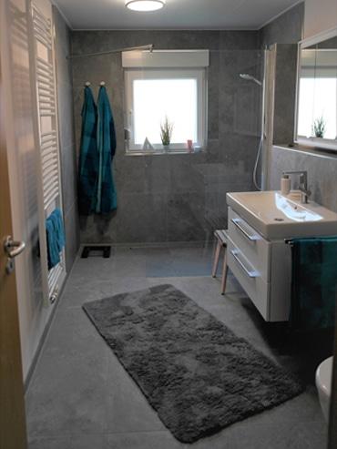 Das Badezimmer nach der Renovierung