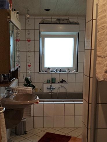 Das Badezimmer vor der Renovierung