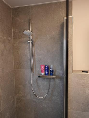 Die Dusche nach der Badrenovierung